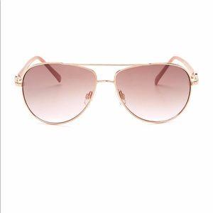 60mm Aviator Sunglasses Rose gold JA4